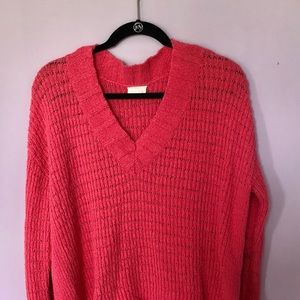 Hot Pink Sweater - Size Large